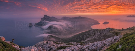 Sunrise at Formentor penisnula, Tramuntana mountains, Majorca