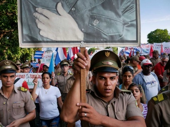 military parade in first of may in Cuba by louis alarcon