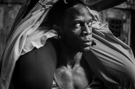 Strenght in faces of afrocuban dancers in my photographic tours around Cuba