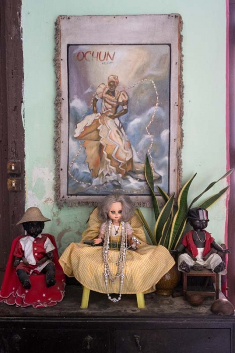 Afrocuban altar to Ochun, photo taken by louis alarcon in cuba